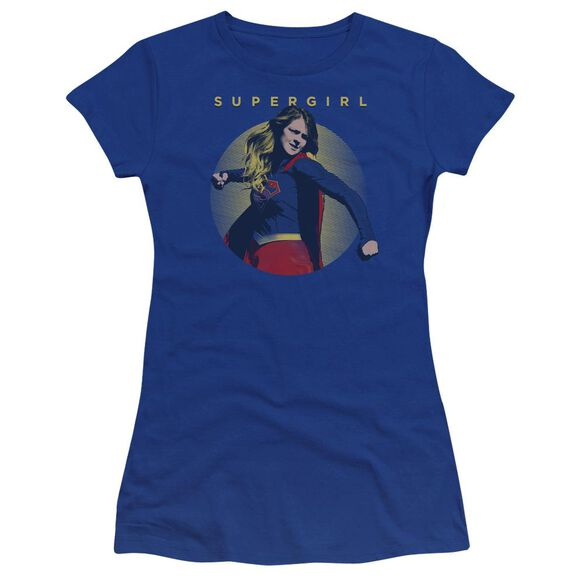 Supergirl Classic Hero Premium Bella Junior Sheer Jersey Royal