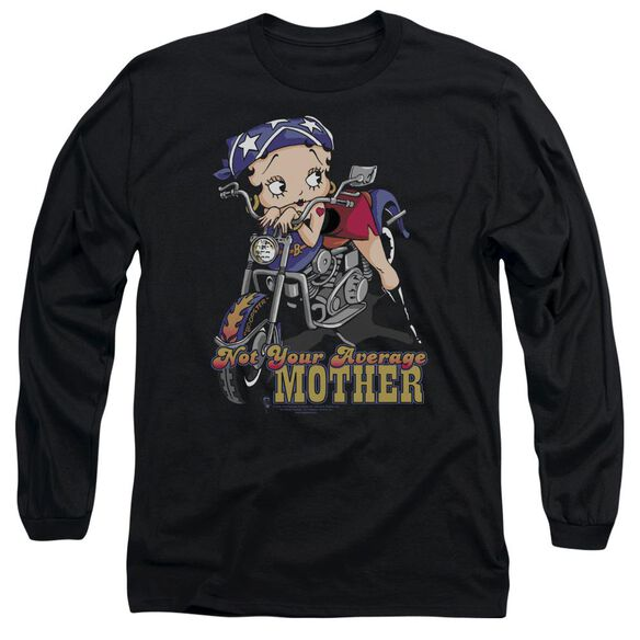 Betty Boop Not Your Average Mother Long Sleeve Adult T-Shirt