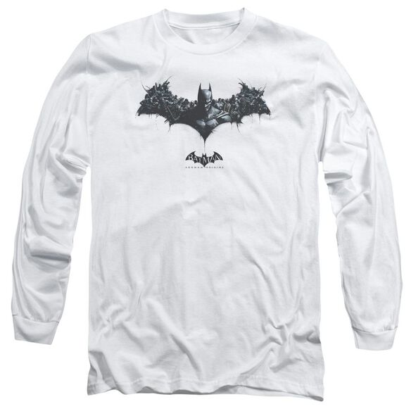 Batman Arkham Origins Bat Of Enemies Long Sleeve Adult T-Shirt
