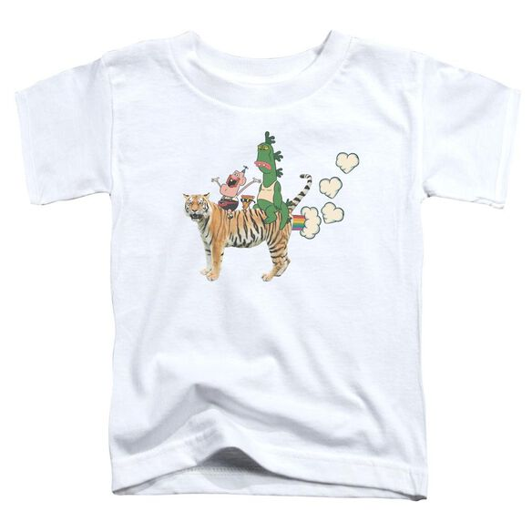 Uncle Grandpa Fart Hearts Short Sleeve Toddler Tee White T-Shirt