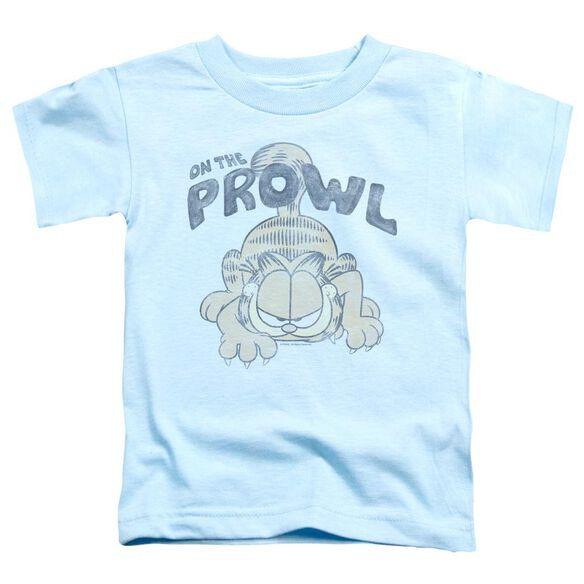 Garfield Prowl Short Sleeve Toddler Tee Light Blue T-Shirt