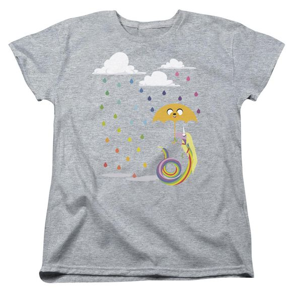 Adventure Time Lady In The Rain Short Sleeve Womens Tee Athletic Heather T-Shirt