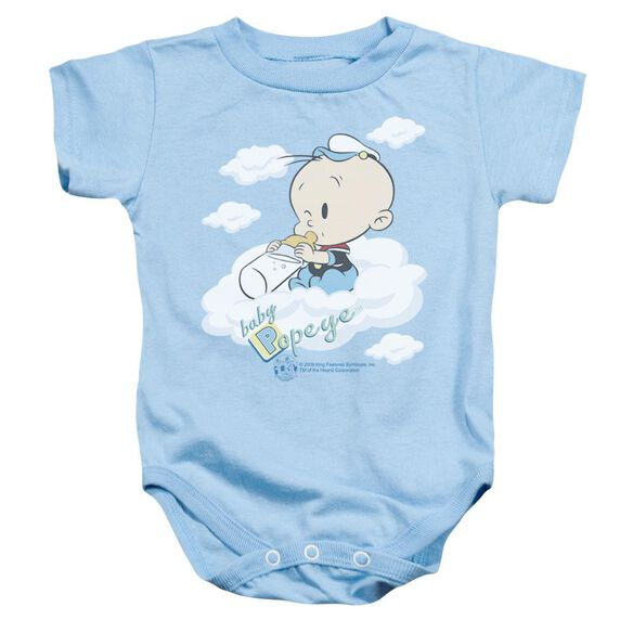Popeye Baby Clouds Infant Snapsuit Light Blue Lg