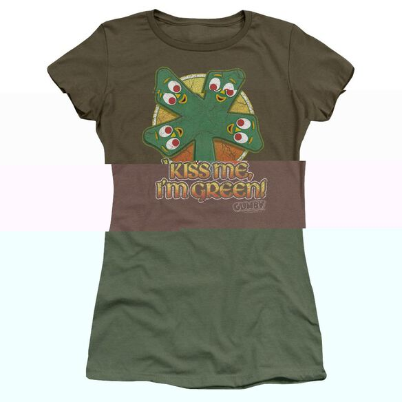 GUMBY KISS ME - S/S JUNIOR SHEER - MILITARY GREEN T-Shirt