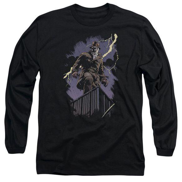 Watchmen Rorschach Night Long Sleeve Adult T-Shirt