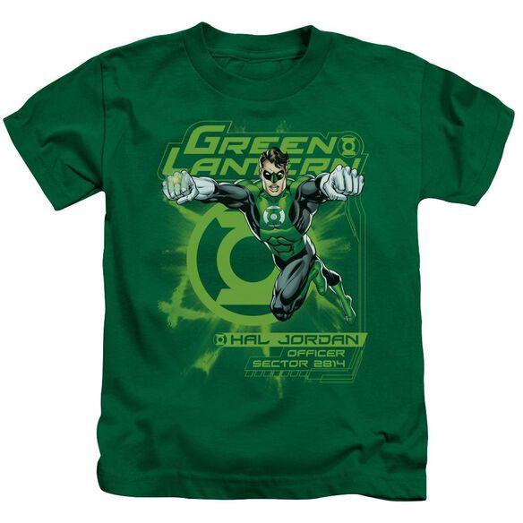 Green Lantern Sector 2814 Short Sleeve Juvenile Kelly Green T-Shirt