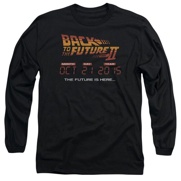 Back To The Future Ii Future Is Here Long Sleeve Adult T-Shirt