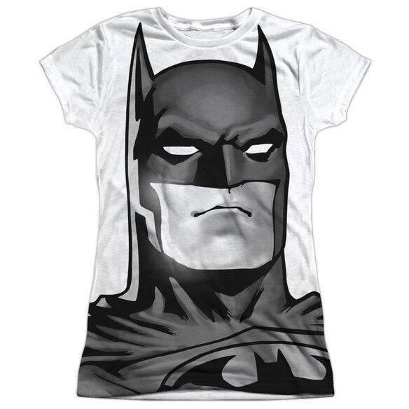 Batman Bw Bat Head Short Sleeve Junior Poly Crew T-Shirt