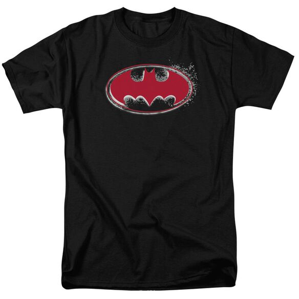 Batman Hardcore Noir Bat Logo Short Sleeve Adult T-Shirt