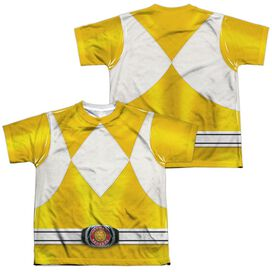 Power Rangers Yellow Ranger (Front Back Print) Short Sleeve Youth Poly Crew T-Shirt