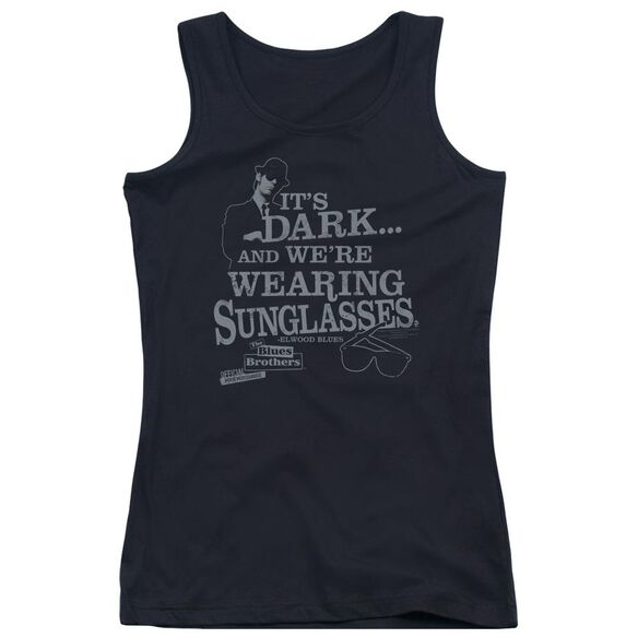 Blues Brothers Its Dark Juniors Tank Top