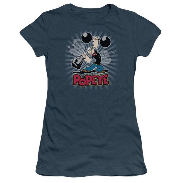 POPEYE STRENGTH - S/S JUNIOR SHEER - INDIGO T-Shirt