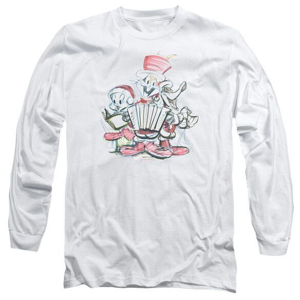 Looney Tunes Holiday Sketch Long Sleeve Adult T-Shirt