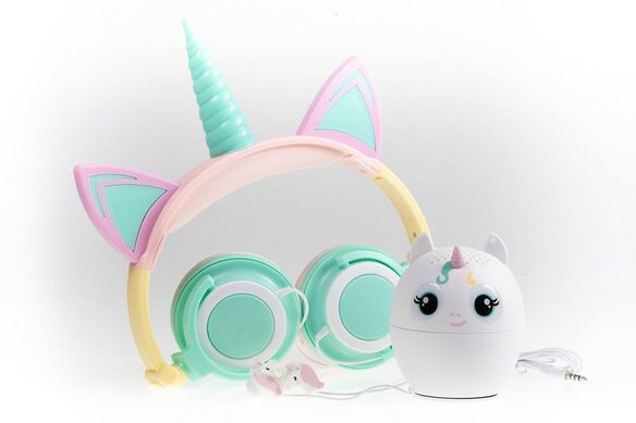 Unicorn 3-Piece Audio Gift Set [Rainbow]