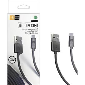 Case Logic 10ft Type-C Braided USB Charge & Sync Cable [Gray]