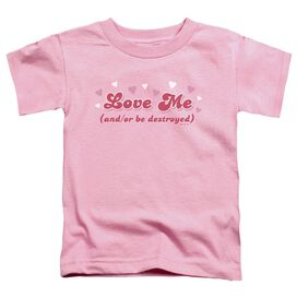 Love Me Short Sleeve Toddler Tee Pink Sm T-Shirt