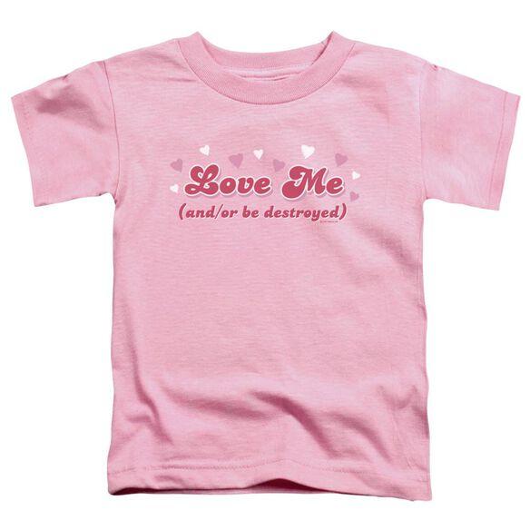 Love Me Short Sleeve Toddler Tee Pink Sm T-Shirt