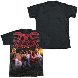 Aerosmith Stage Short Sleeve Adult Front Black Back T-Shirt