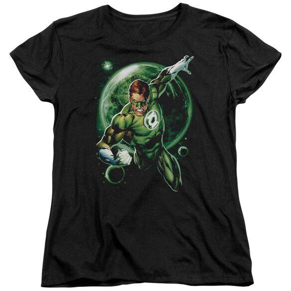 Green Lantern Galaxy Glow Short Sleeve Womens Tee T-Shirt