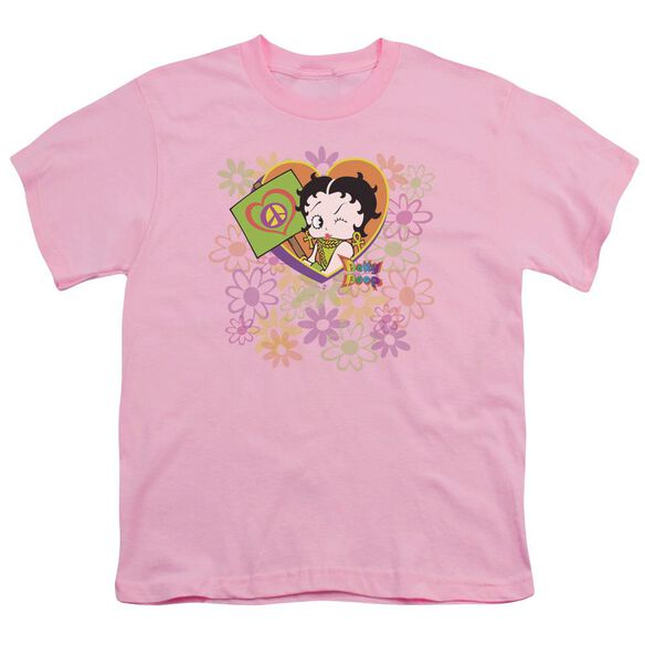 Betty Boop Peace Love And Boop Short Sleeve Youth T-Shirt