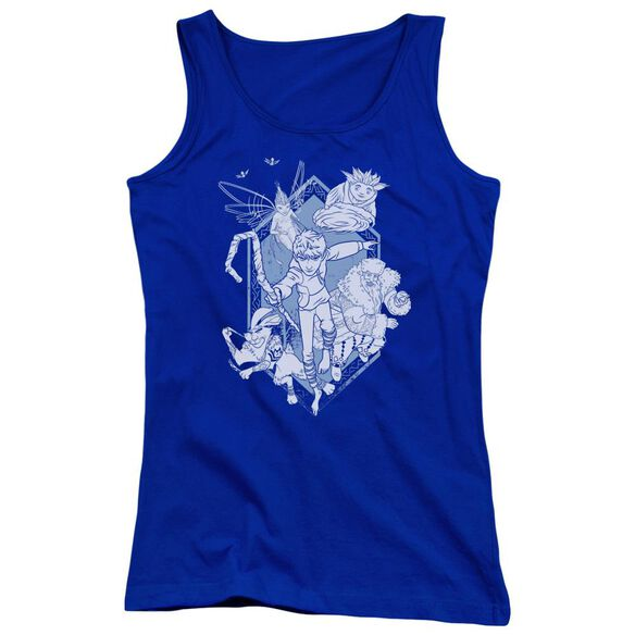 Rise Of The Guardians Coming For You Juniors Tank Top Royal