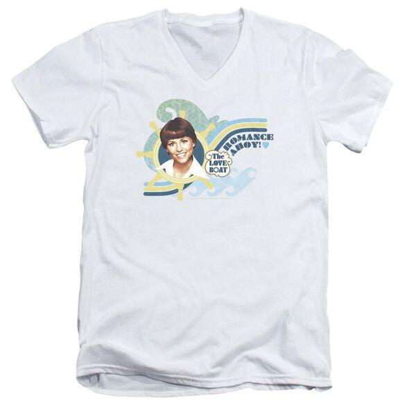 Love Boat Romance Ahoy Short Sleeve Adult V Neck T-Shirt