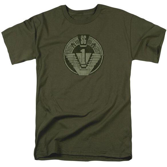Stargate Sg1 Distressed Short Sleeve Adult Military T-Shirt