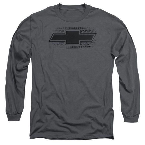 Chevrolet Bowtie Burnout Long Sleeve Adult T-Shirt