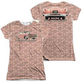 Chevrolet Pink And Black Days (Front Back Print) Short Sleeve Junior Poly Crew T-Shirt