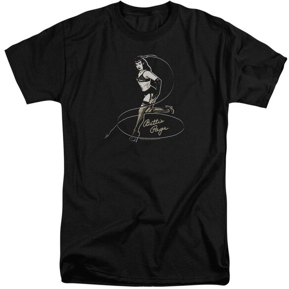 Bettie Page Whip It! Short Sleeve Adult Tall T-Shirt