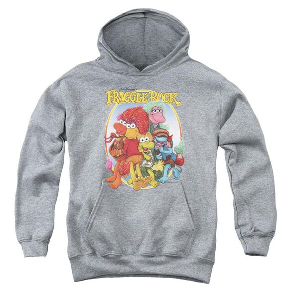 Fraggle Rock Group Hug Youth Pull Over Hoodie Athletic