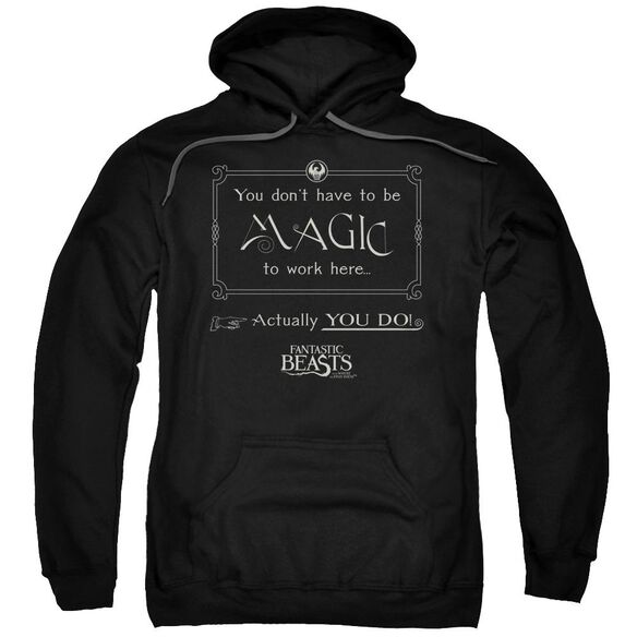 Fantastic Beasts Magic To Work Here Adult Pull Over Hoodie