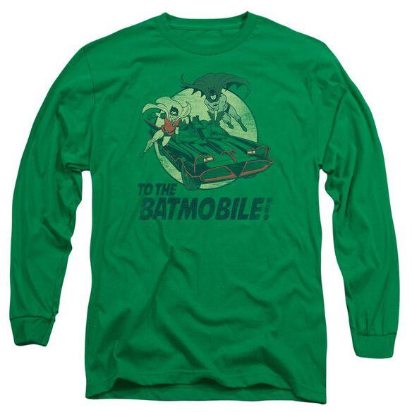 Batman Classic Tv To The Batmobile Long Sleeve Adult Kelly T-Shirt