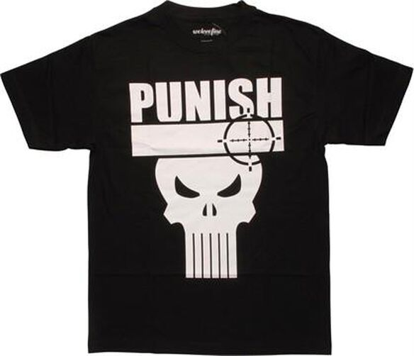 Punisher Name Target Logo Mighty Fine T-Shirt