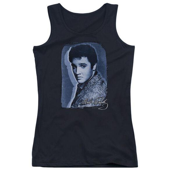 Elvis Presley Overlay Juniors Tank Top