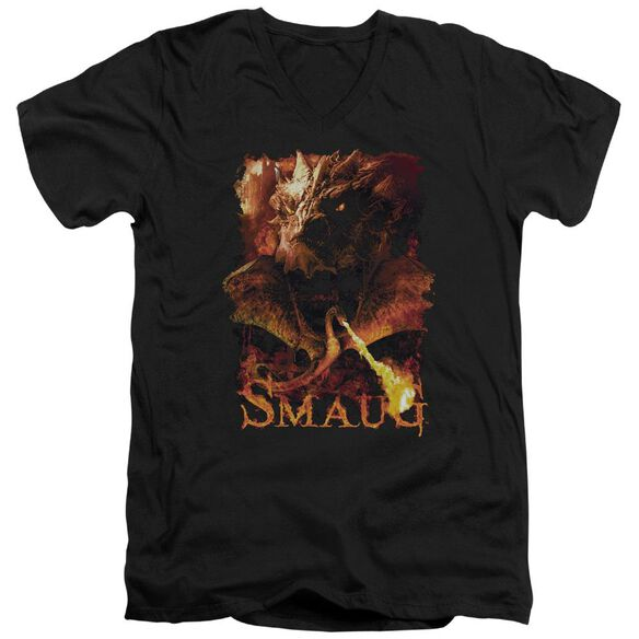 Hobbit Smolder Short Sleeve Adult V Neck T-Shirt
