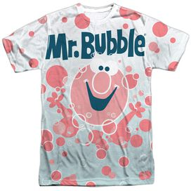 Mr Bubble Clean Sweep Short Sleeve Adult Poly Crew T-Shirt
