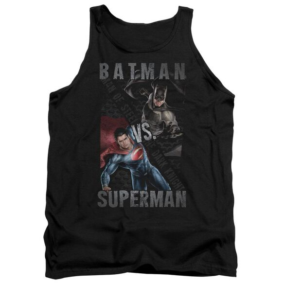 Batman Vs Superman Hero Split Adult Tank