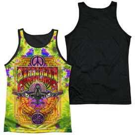 Jefferson Airplane Take Off Adult Poly Tank Top Black Back