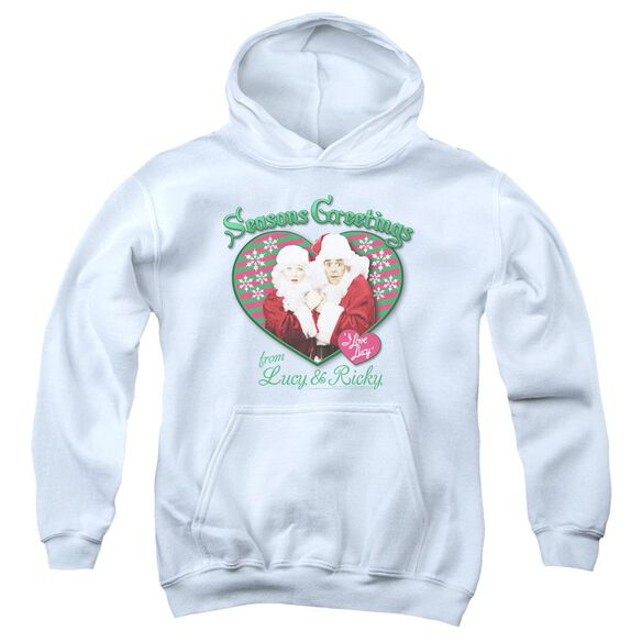 I Love Lucy Seasons Greetings Youth Pull Over Hoodie
