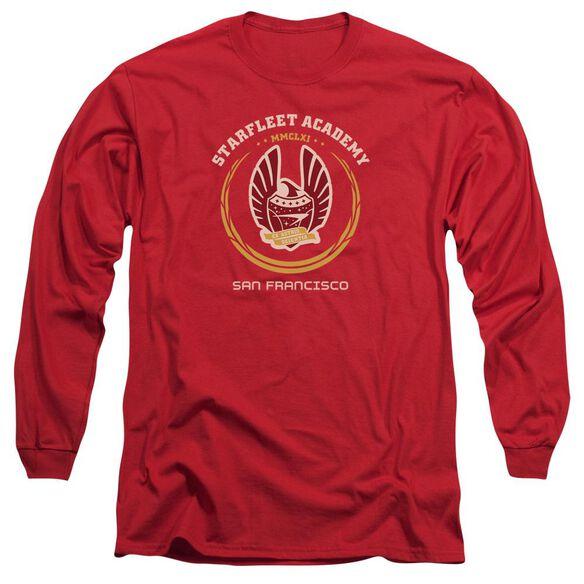 Star Trek Academy Heraldry Long Sleeve Adult T-Shirt