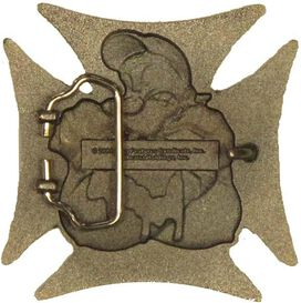 Popeye Cross Belt Buckle