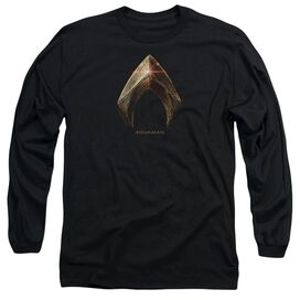 Justice League Movie Aquaman Logo Long Sleeve Adult T-Shirt