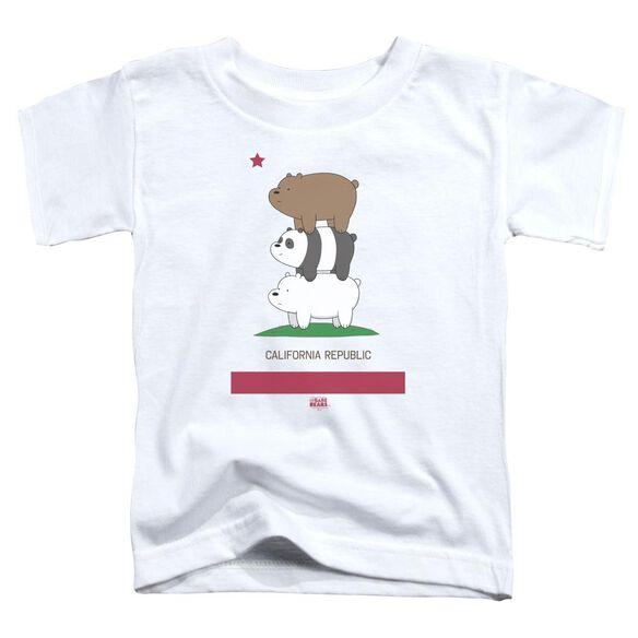 We Bare Bears Cali Stack Short Sleeve Toddler Tee White T-Shirt