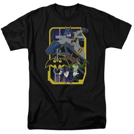 Batman Unlimited Unlimited Villains Short Sleeve Adult Black T-Shirt