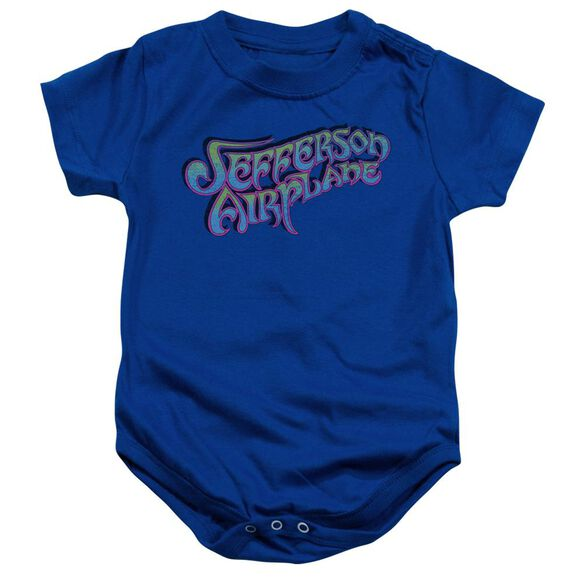 Jefferson Airplane Gradient Logo Infant Snapsuit Royal Blue