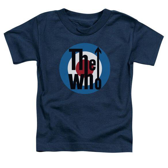 The Who Logo Short Sleeve Toddler Tee Navy T-Shirt