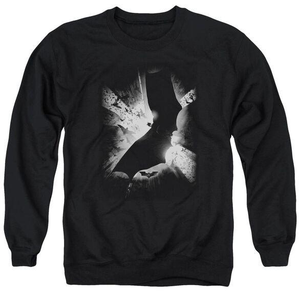 Batman Begins Bw Poster Adult Crewneck Sweatshirt