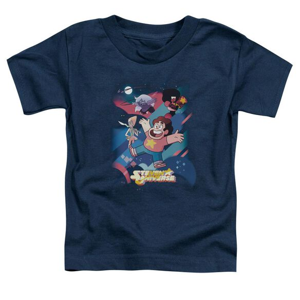Steven Universe Group Shot Short Sleeve Toddler Tee Navy T-Shirt