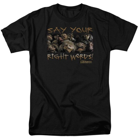 Labyrinth Say Your Right Words Short Sleeve Adult T-Shirt